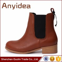 European women's fashion thick with Martin boots leather boots large yards leather boots