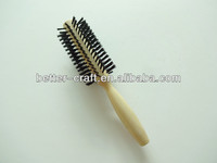 professional hard boar bristle rotating hair brush