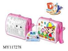 Cultivate children ability DIY colored drawing school bag color your own custom school bags
