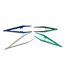 colorful disposable medical sterile plastic tweezers
