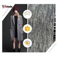 3618 Hot sale china market plain knit acrylic blend polyester wool fabric in bulk