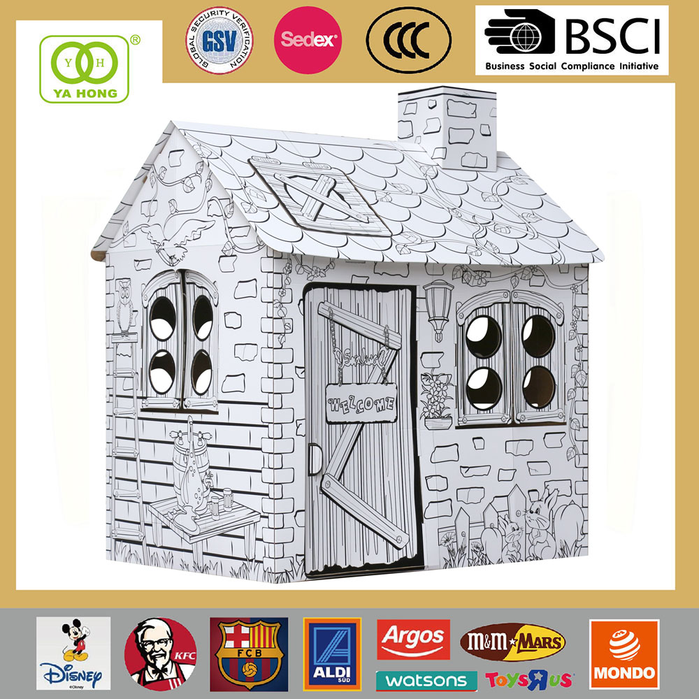 Wholesale Kids and children cardboard playhouse furniture