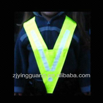 2013 New Style Kids V-shape Safety Vest, Made of Reflective Material for Children, Various Sizes Available