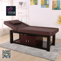 solid wood beauty salon furniture facial bed massage table