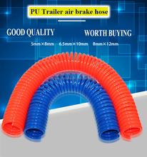 PU or PA Air Brake Coil Hose tube for freightliner truck trailer air coiled tube truck