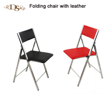 stackable colorful wall folding chair with stainless steel