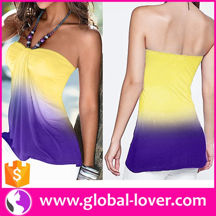 Wholesale Western Laidies Casual Wear Open Hot Sexy Womens Tube Tops