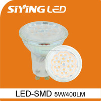 china factory price glass gu10 smd2835 400lm led lamp 5w