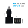 black color aluminium triple port 12 volt battery charger car battery charger new design made in china