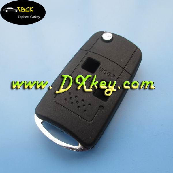 Modified flip 2 buttons car key shell car key blanks for Toyota remote key fob