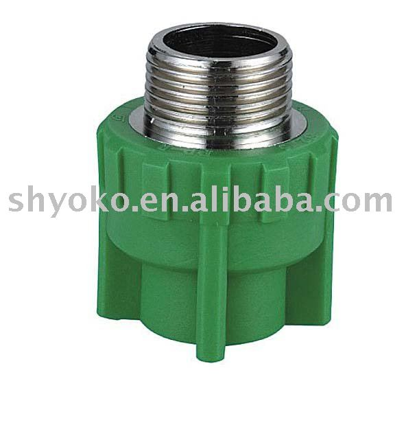 ppr fittings male coupling (copper thread)