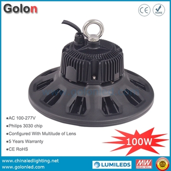 UFO LED high bay light for food processing 100W super bright 130Lm/W IP65 waterproof