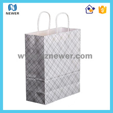 Promotional fashion oem white transparent personalized paper bag