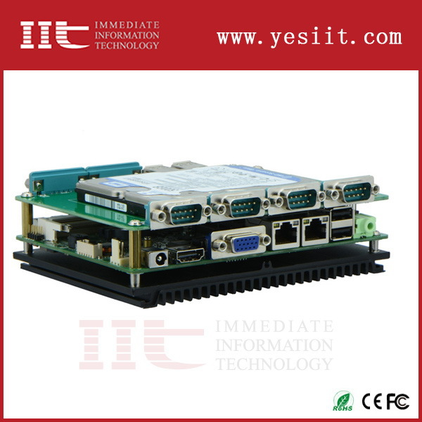 High quality antique fanless embedded computer with pci