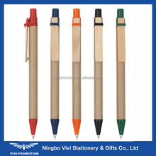 Biodegradable Recycled Paper Ball Pen With Wood Clip (VEP440B)