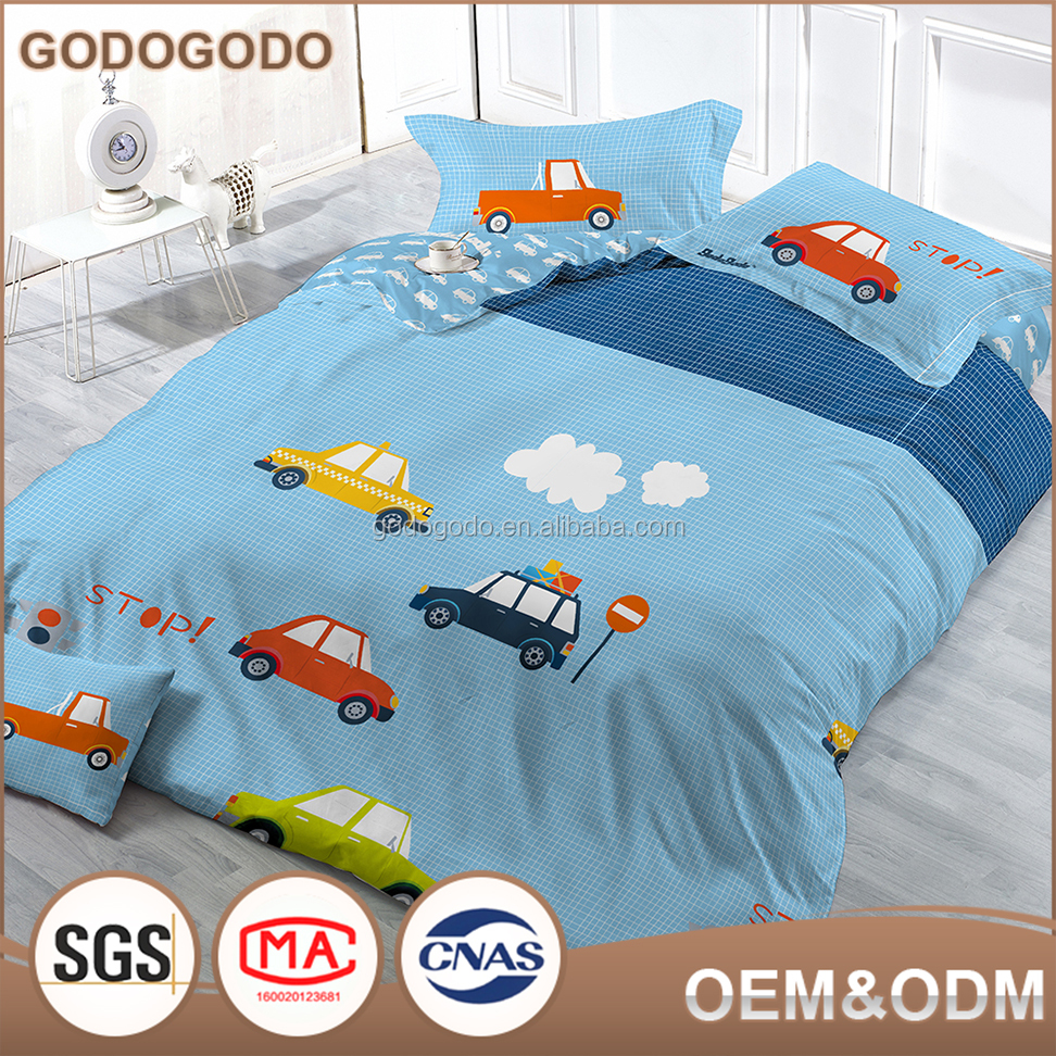 Hypoallergenic Luxury Super Soft King Size Custom Cartoon Printed Comforter Set 100% Cotton 3D Kid Bedding