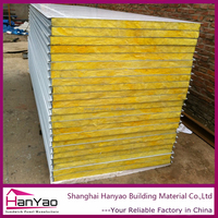 Heat Insulation Fire Rated Glass Wool Sandwich Panel Foam Sandwich Panel Plywood China Supplier