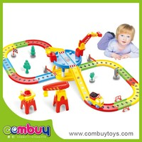 Top Sale Children DIY Plastic B/O Railway Toys Train