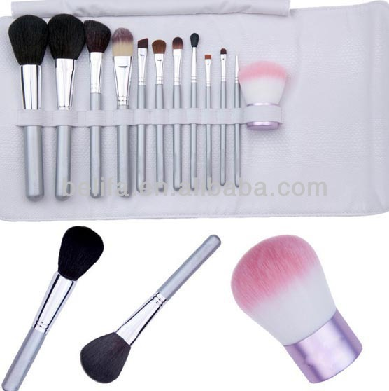 Belifa makeup brush set 11 unit brush set with a kabuki custom logo makeup brushes