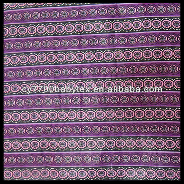 Purple Indonesian Bali 100% Cotton Batik Fabric
