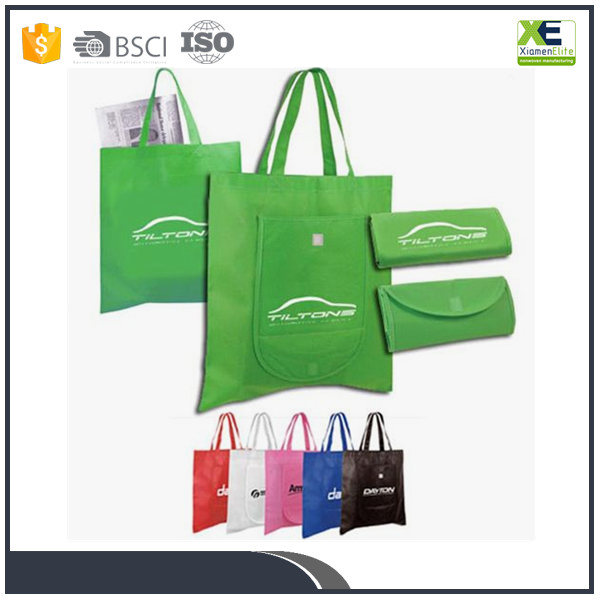 Foldable recycled non woven shopping bags easy to packet grocery bags