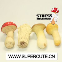 New product made in China idea gift funny mushroom vinyl plastic promotional anti funny stress relief toys