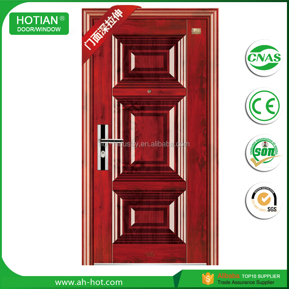 Approved High Quality Anti-fire Steel Door Factory Price Red Oak Security Steel Wooden Door