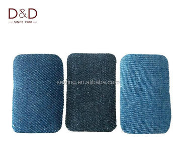 D&D 10Pcs/Lot Jeans Patch Iron On Patches Repair Patchwork For Clothes Stickers Sewing Accessories 7.5*5cm