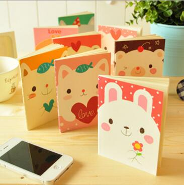 Wholesale A6 Cute Animal Printing Cartoon Mini Student Paper Notebook Smart Pocket Notebook Stock 12.5*9.2cm