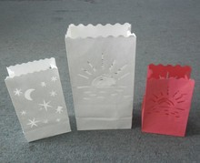 Luminaria candle bags in fire retardent paper