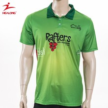 Full Over Printing New Design Green Polo T Shirt For Sublimation Printing