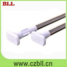 Stainless Steel Folding Curtain Rod with Eco-friendly Plastic Cover