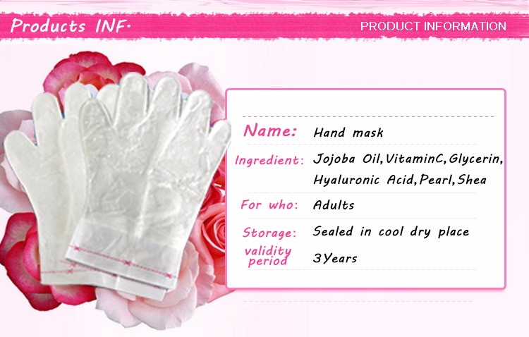 Herbal ingredients moisturizing hand mask for hand Care Exfoliant