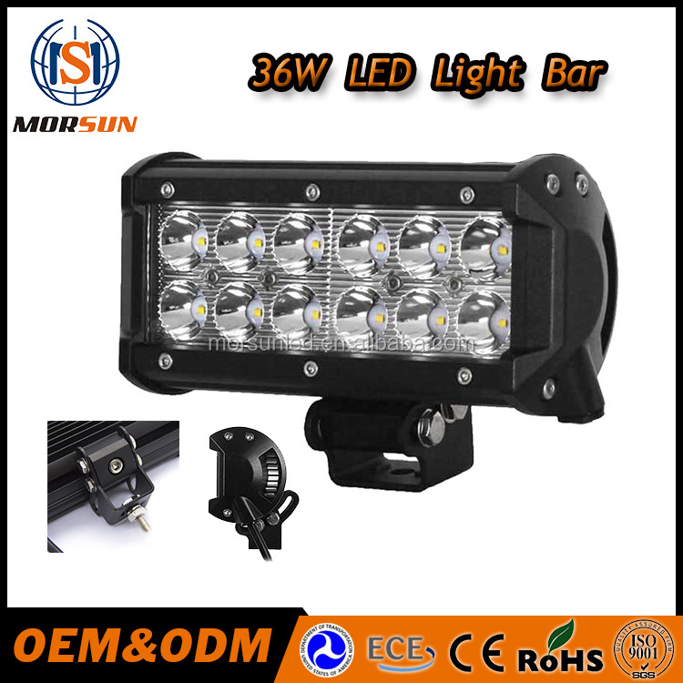 Morsun 7'' led light for car, 36w led driving light bar high power 12v 36w car led lightbar