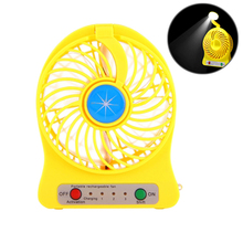 Cheap Price Portable Electrical Low Noise Stand Mini Celling Fan with LED Light