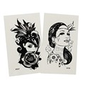 Dody tattoo and hair tattoo sticker
