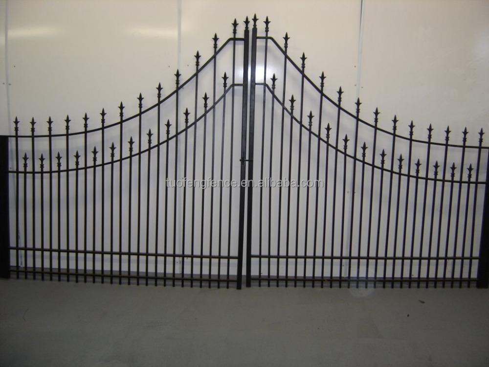 Swing porte porte en m tal personnalis en aluminium for Porte cloture