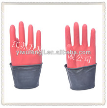 WJ54 60g Black Industrial Rubber Gloves double color safety thickness Sun brand gloves