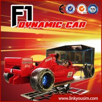 2015 Amusement park equipment F1 homemade racing simulator 3 screen 4d driving simulator 2d car simulator