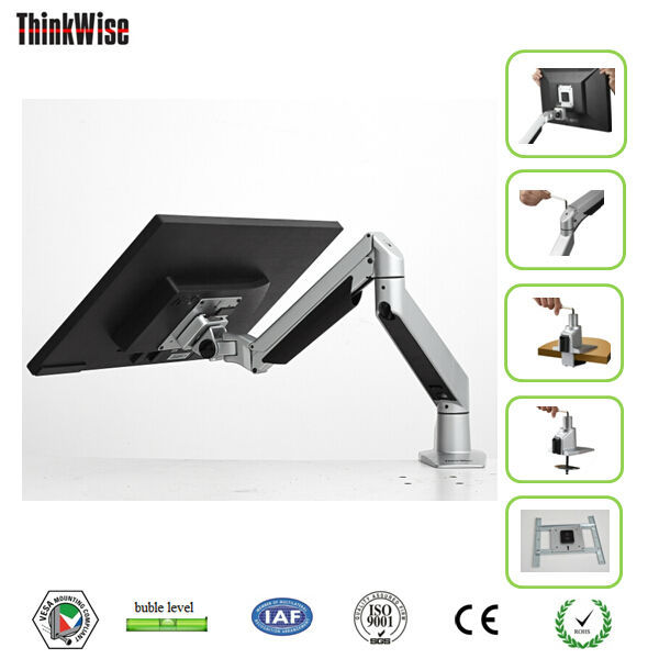 monitor arm design computer flexible stand holder folding table bracket clamp