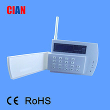 LCD GSM wireless intelligent security alarm system