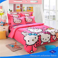 bedsheet fabric/luxury bedding set/hello kitty bedding set