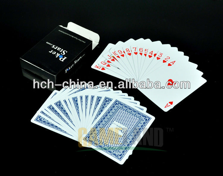 Customized Washable 100% Plastic Playing Poker Cards, custom playing card