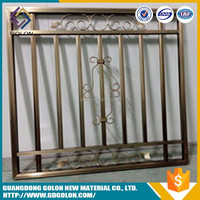 China wholesale cheap wrought iron sheet metal fence panels