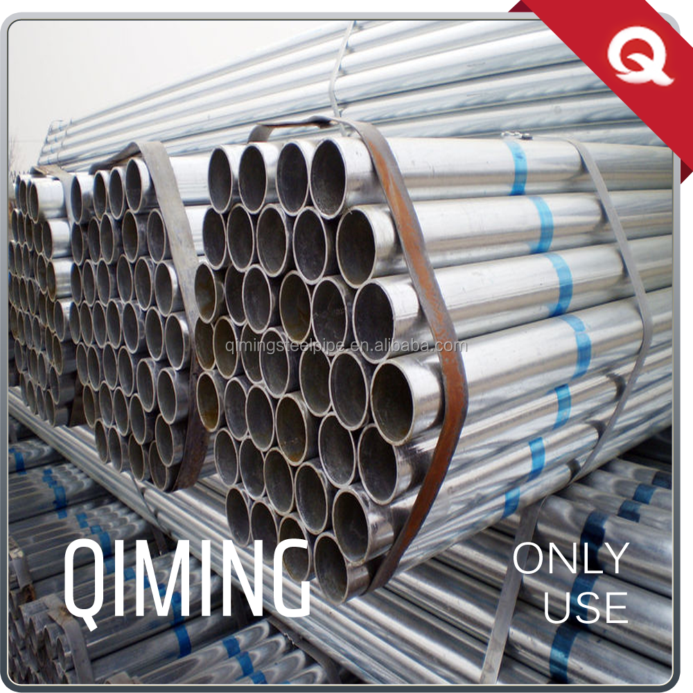 Top quality round pre galvanized steel pipe price list gi steel pipe made in china