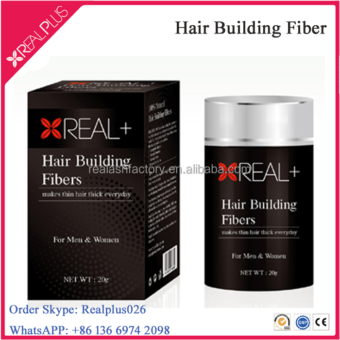 Real Plus Instant Hair Building Fibre Natural Keratin Protein Hair Thickener 22g