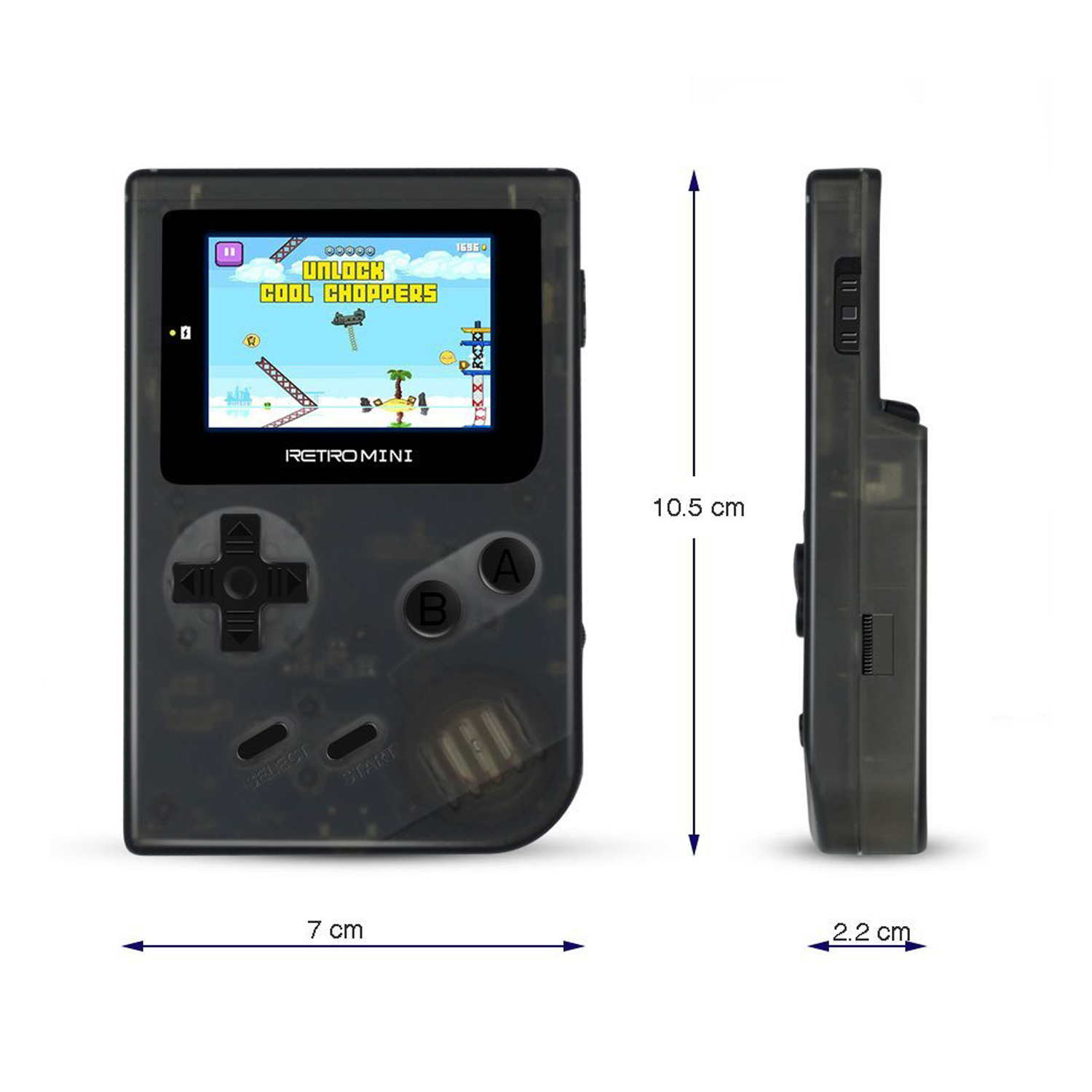 Best Kids Gift Retro Mini Handheld Game Console with 548 Classic GBA Games Support TF Card Download Video Music E-book