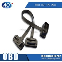 ultrathin obd obd2 dual cable obdii flat cable for gps tracking