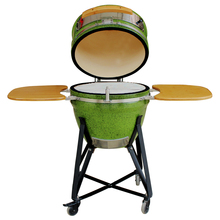 Outdoor Cooking Big Kamado BBQ Green Color Ceramic Eggs