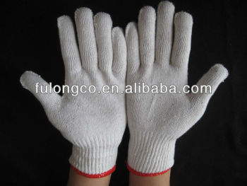 7, 10 ,13gauge natural white cotton gloves 500g 600g 700g 800g